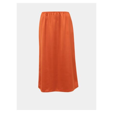 Pomarańczowa spódnica midi ONLY Mania