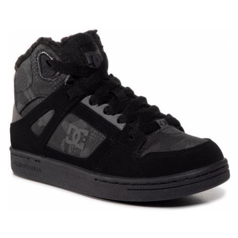 DC Sneakersy Pure High-Top Wnt ADBS100245 Czarny