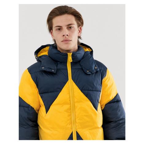 Wrangler blue & yellow puffer jacket