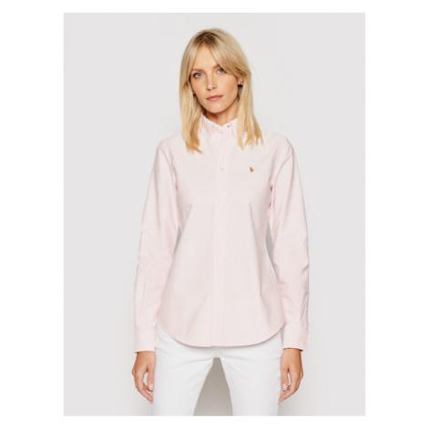 Polo Ralph Lauren Koszula Washed Oxford 211743355 Różowy Slim Fit