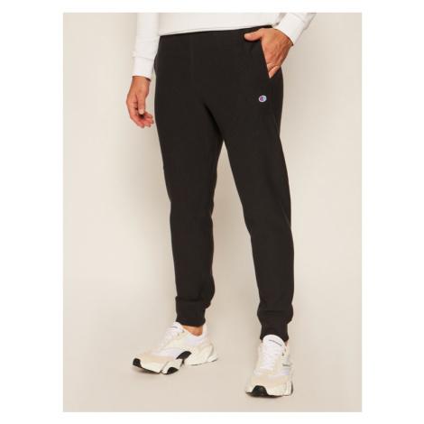 Champion Spodnie dresowe Ribbed Cuffed Joggers 214922 Czarny Custom Fit
