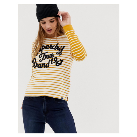 Superdry striped longsleeve t-shirt