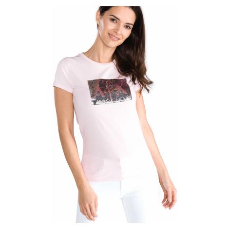 Armani Exchange Koszulka Różowy