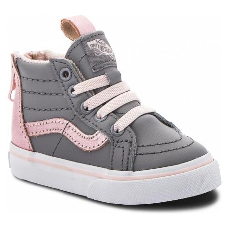 Sneakersy VANS - Sk8-Hi Zip VN0A32R3U4E (Mte) Mettallic/Alloy/Heav