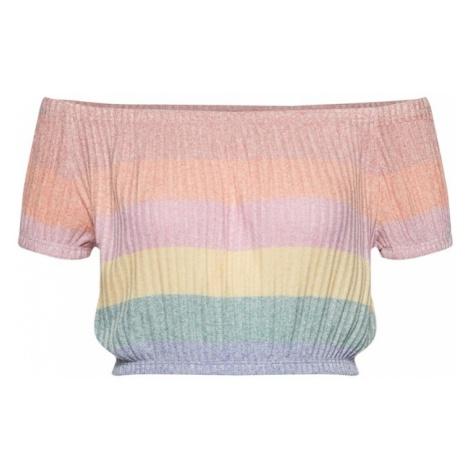 NEW LOOK Koszulka jasnożółty / pastelowy zielony / różowy pudrowy