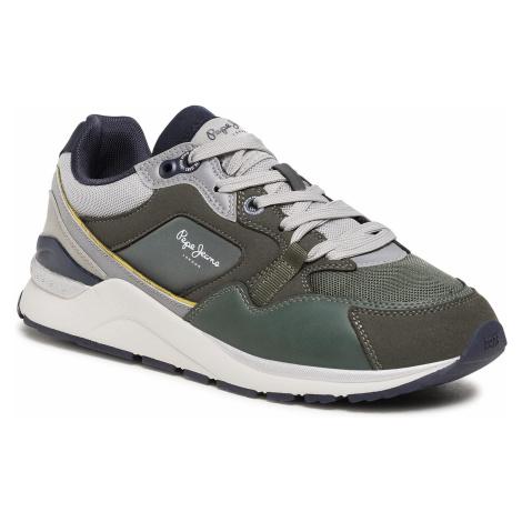 Sneakersy PEPE JEANS - X20 Monochrome PMS30736 Khaki Green 765