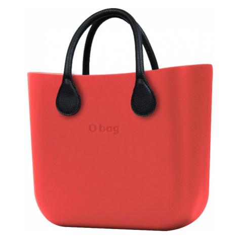O bag torebka MINI Fragola z krótkimi czarnymi uchwytami ze skajki