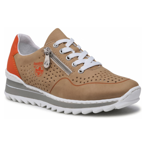 Sneakersy RIEKER - M6905-60 Braun
