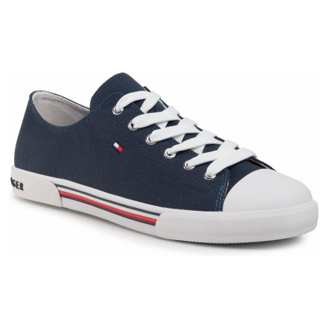 Trampki TOMMY HILFIGER - Low Cut Lace-Up Sneaker T3X4-30692-0890 D Blue 800
