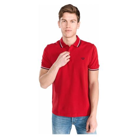 Fred Perry Polo Koszulka Czerwony