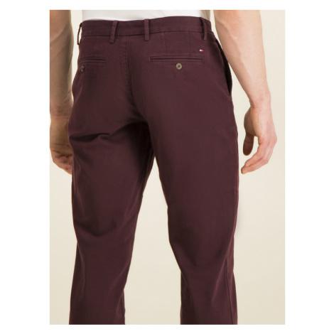 TOMMY HILFIGER Spodnie materiałowe Denton MW0MW12576 Bordowy Straight Fit