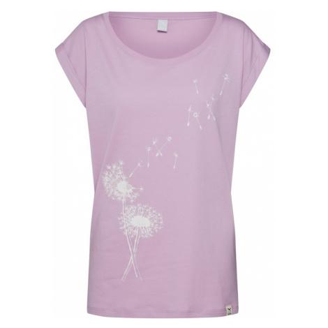 Iriedaily Koszulka 'Pusteblume' liliowy / biały