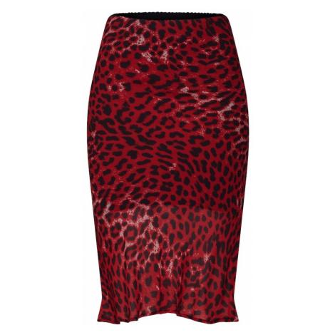 Bardot Spódnica 'LEOPARD' czerwony / czarny