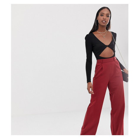 ASOS DESIGN Tall wide leg trouser with pleat detail