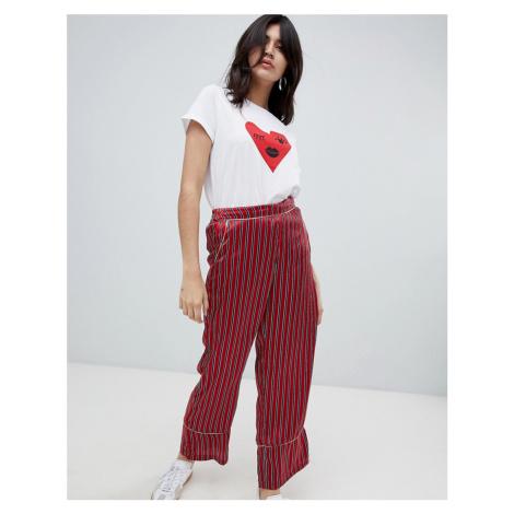 Soaked In Luxury stripe loose trousers
