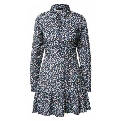 Trendyol Sukienka koszulowa aqua / czarny / niebieski