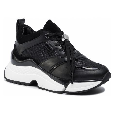 Sneakersy KARL LAGERFELD - KL61631 Black Lthr/Textile