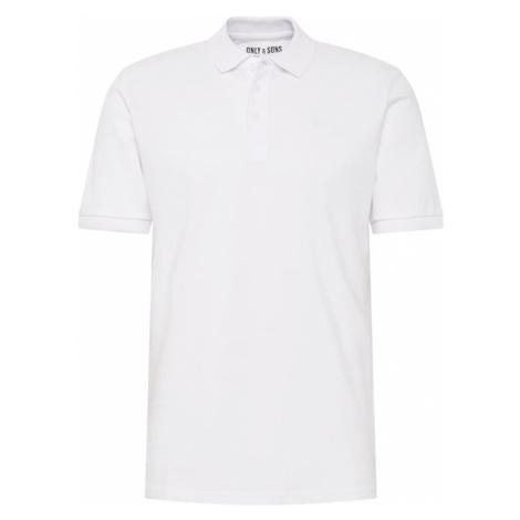 Only & Sons Koszulka 'onsSCOTT PIQUE POLO NOOS' biały