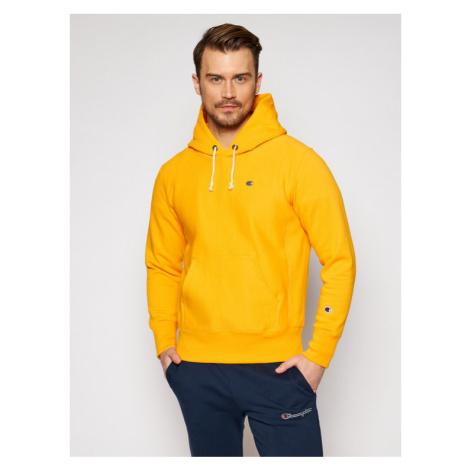 Champion Bluza 214675 Żółty Custom Fit