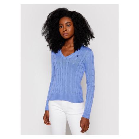 Polo Ralph Lauren Sweter 211580008068 Niebieski Regular Fit