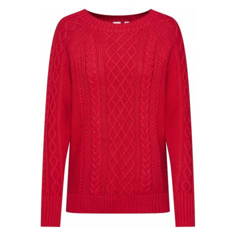 GAP Sweter 'DB CABLE CREWNECK' czerwony