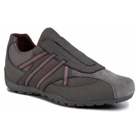 Sneakersy GEOX - U Ravex D U023FD 0AU14 C9381 Anthracite/Bordeaux