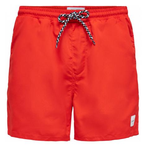 ONLY & SONS Szorty kąpielowe Ted 22019092 Czerwony Regular Fit