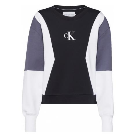 Calvin Klein Jeans Bluzka sportowa czarny / biały / szary