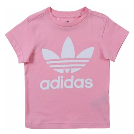 ADIDAS ORIGINALS Koszulka 'TREFOIL' różowy / biały