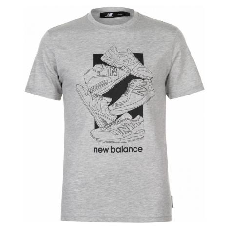 New Balance 5 Shoe QTT T Shirt Mens
