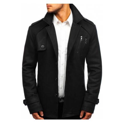 Płaszcz męski zimowy czarny Denley 3135 J.STYLE