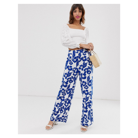 Ichi floral trousers