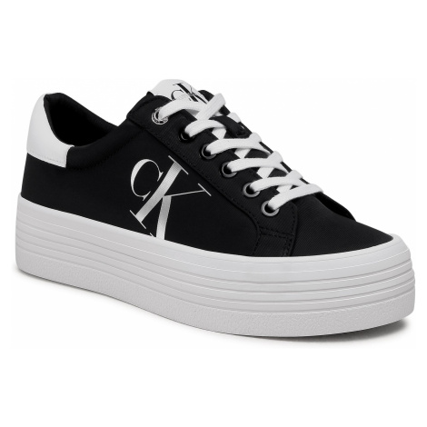Sneakersy CALVIN KLEIN JEANS - Vulcanized Flatform Laceup Ny YW0YW00067 Black BDS`