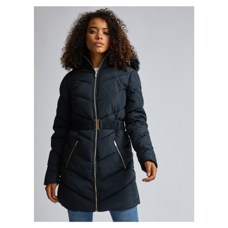 Dark blue winter quilted coat Dorothy Perkins Tall