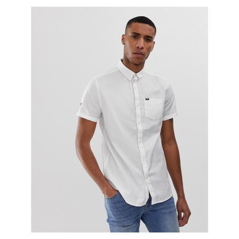 Superdry one pocket short sleeve shirt in white