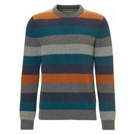 Marc O'Polo Sweter szary / benzyna / pomarańczowy