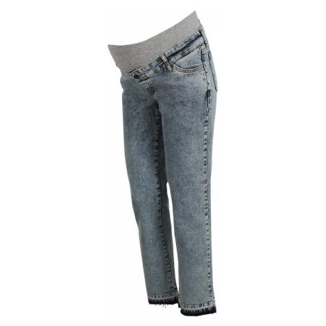 Szare jeansy ciążowe