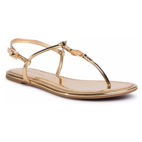 Sandały TORY BURCH - Emmy Flat Sandal 65178 Gold 701