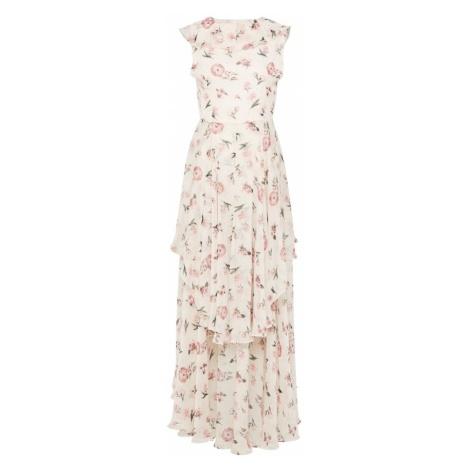 Y.A.S Letnia sukienka różowy pudrowy / biały