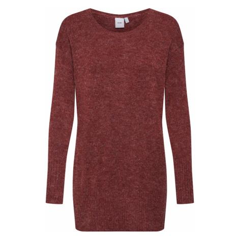 ICHI Sweter 'AMARA' rdzawobrązowy