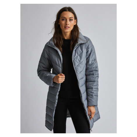Grey quilted Dorothy Perkins coat