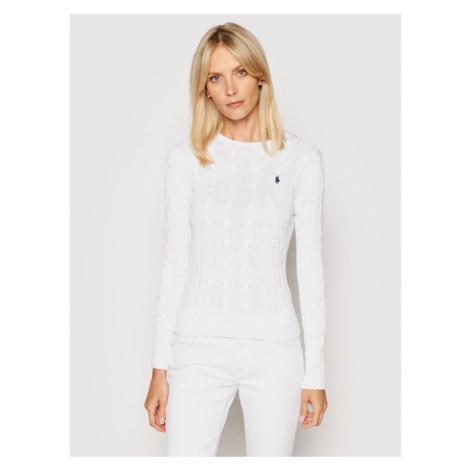 Polo Ralph Lauren Sweter Julianna 211580009005 Biały Slim Fit