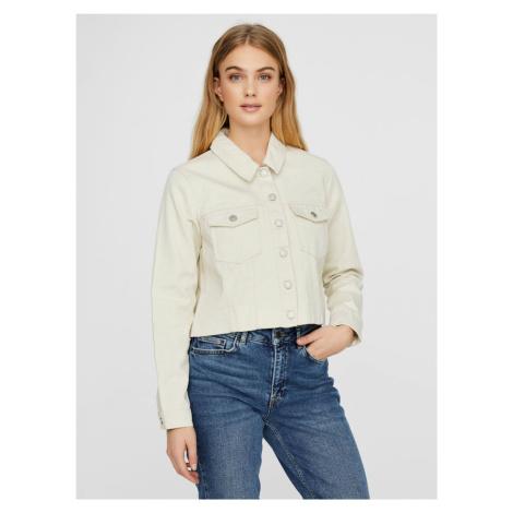 Kremowa kurtka jeansowa VERO MODA Mikky