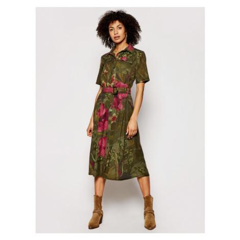Desigual Sukienka koszulowa Angela 21SWVN01 Zielony regular_fit
