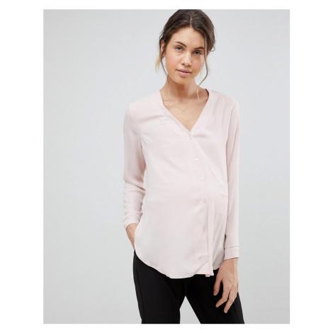 ASOS DESIGN Maternity long sleeve v neck blouse