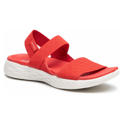 Sandały SKECHERS - On The Go 140026/RED Red