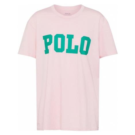 POLO RALPH LAUREN Koszulka 'BIG POLO' trawa zielona / różowy pudrowy