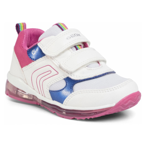Sneakersy GEOX - B Todo G. B B0285B 0BC14 C0563 White/Fuchsia