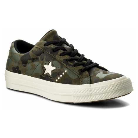 Tenisówki CONVERSE - One Star Ox 159703C Herbal/Light Gold/Egret