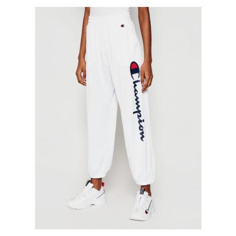 Champion Spodnie dresowe All-over Script Logo 112810 Biały Custom Fit